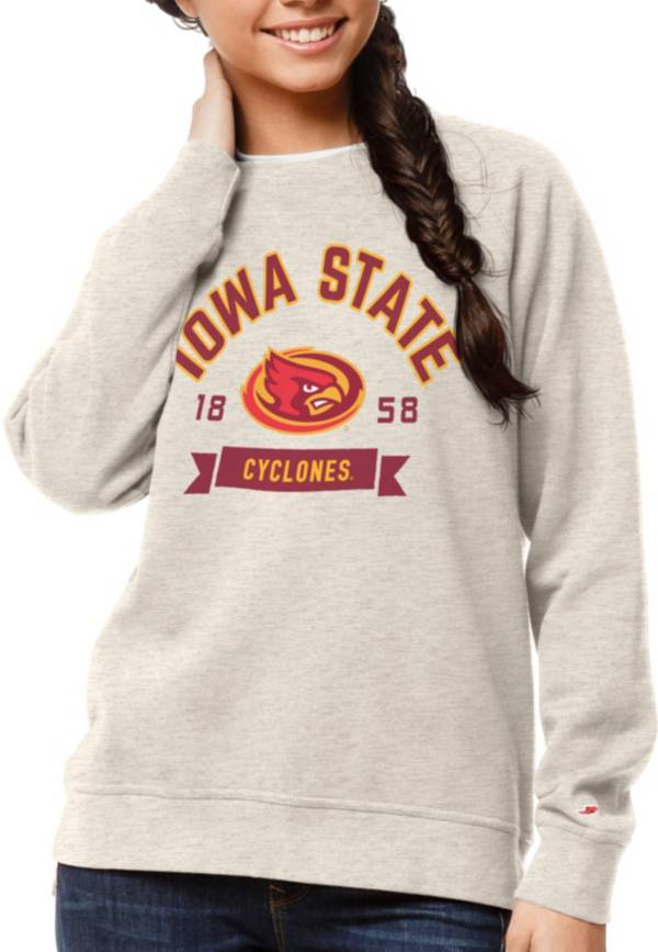 League-Legacy Women's Iowa State Cyclones Oatmeal Academy Crew Sweatshirt product image