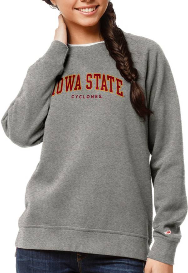 League-Legacy Women's Iowa State Cyclones Grey Academy Crew Sweatshirt product image