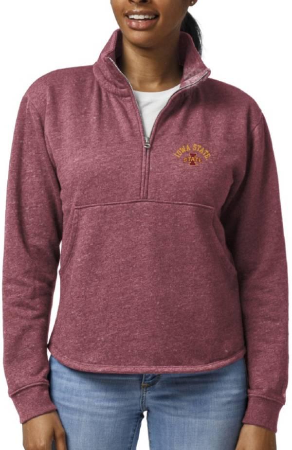 League-Legacy Women's Iowa State Cyclones Cardinal Victory Springs Quarter-Zip Shirt product image