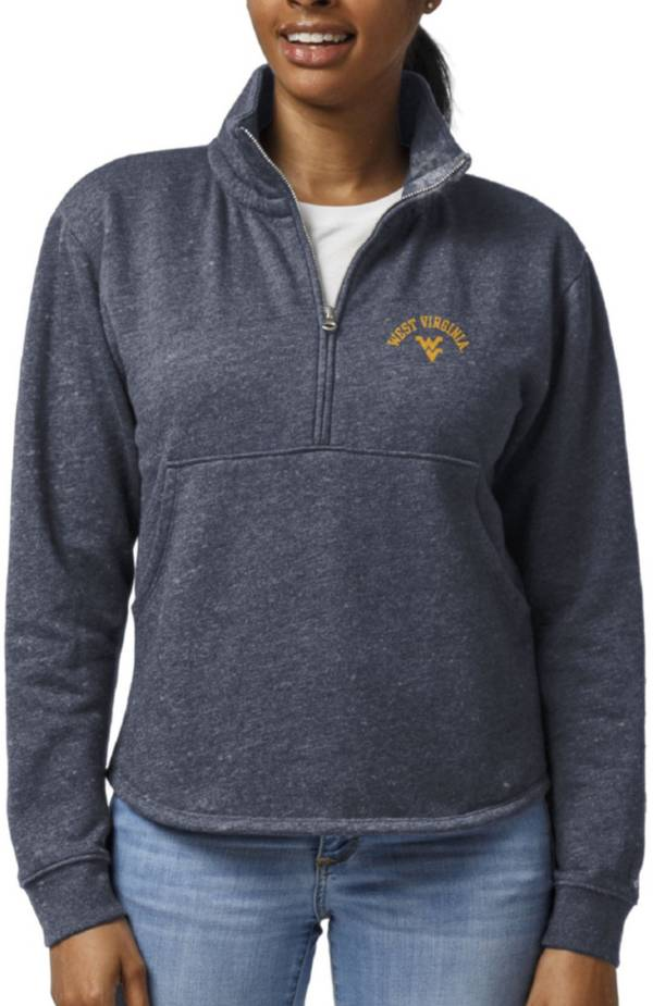 League-Legacy Women's West Virginia Mountaineers Blue Victory Springs Quarter-Zip Shirt product image