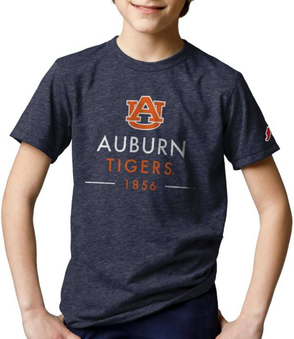 League-Legacy Youth Auburn Tigers Blue Tri-Blend Victory Falls T-Shirt product image