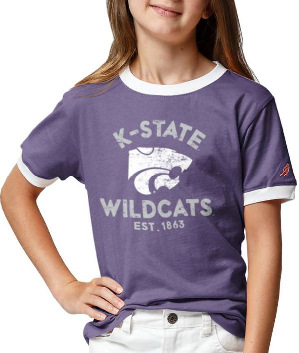 League-Legacy Youth Girls' Kansas State Wildcats Purple Ringer T-Shirt product image