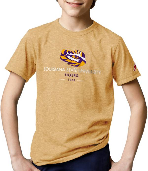 League-Legacy Youth LSU Tigers Gold Tri-Blend Victory Falls T-Shirt product image