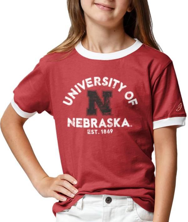 League-Legacy Youth Girls' Nebraska Cornhuskers Scarlet Ringer T-Shirt product image