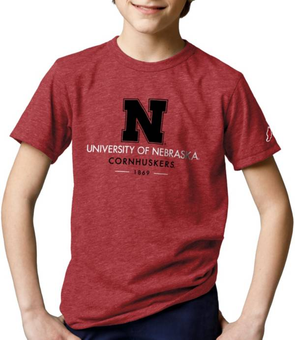 League-Legacy Youth Nebraska Cornhuskers Scarlet Tri-Blend Victory Falls T-Shirt product image