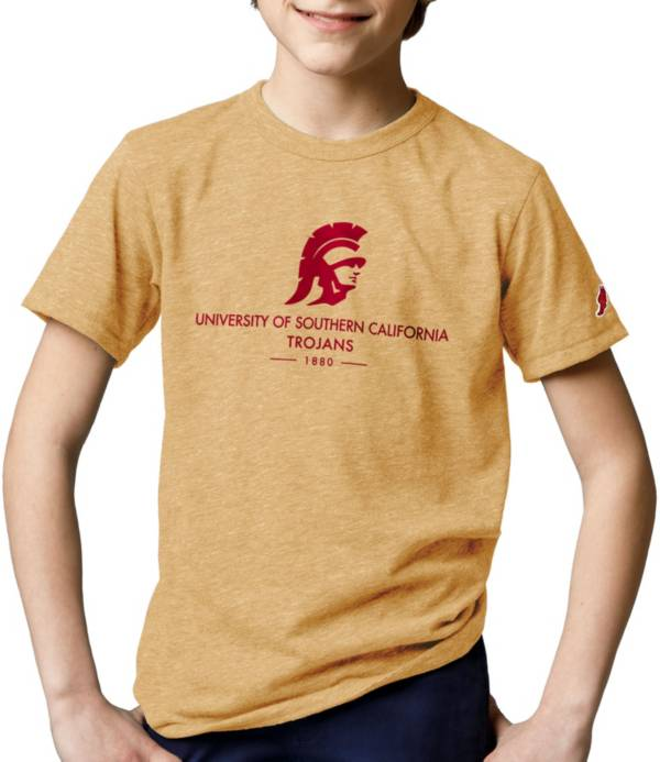 League-Legacy Youth USC Trojans Gold Tri-Blend Victory Falls T-Shirt product image