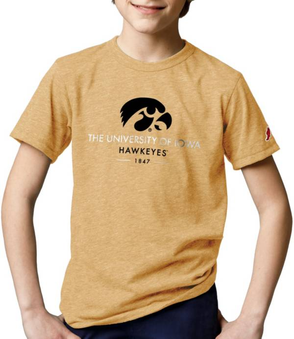 League-Legacy Youth Iowa Hawkeyes Gold Tri-Blend Victory Falls T-Shirt product image