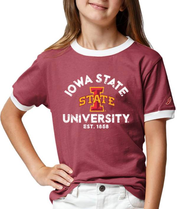 League-Legacy Youth Girls' Iowa State Cyclones Cardinal Ringer T-Shirt product image