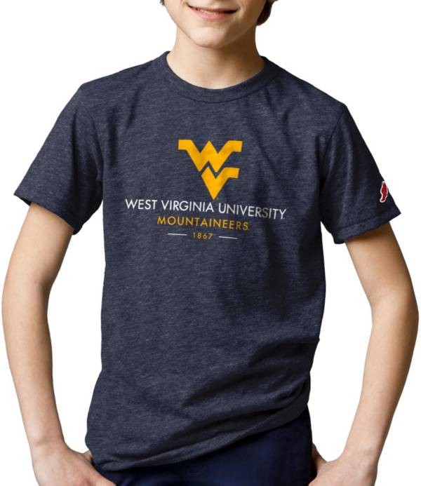 League-Legacy Youth West Virginia Mountaineers Blue Tri-Blend Victory Falls T-Shirt product image