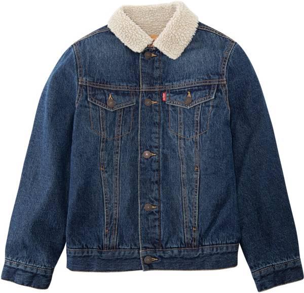 Levi's Boys' Sherpa Trim Denim Trucker Jacket product image