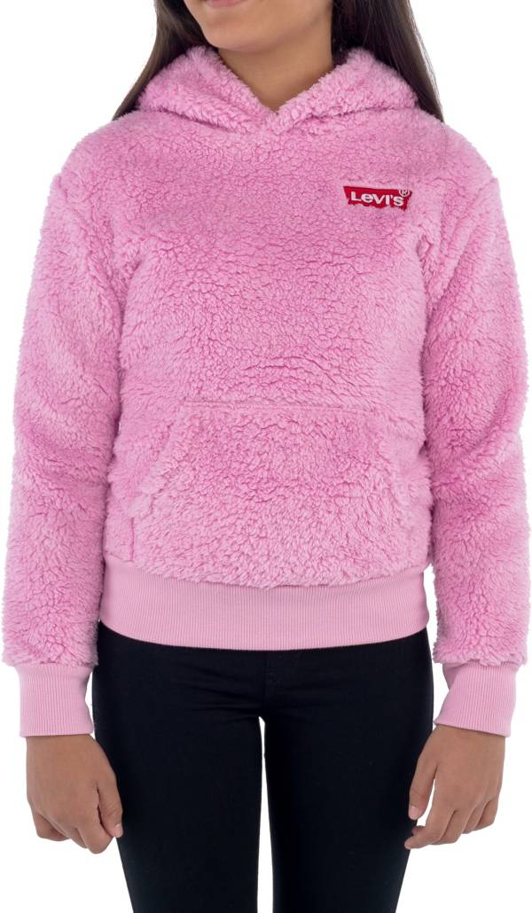 Levi's Girls' Sherpa Fleece Pullover Hoodie product image