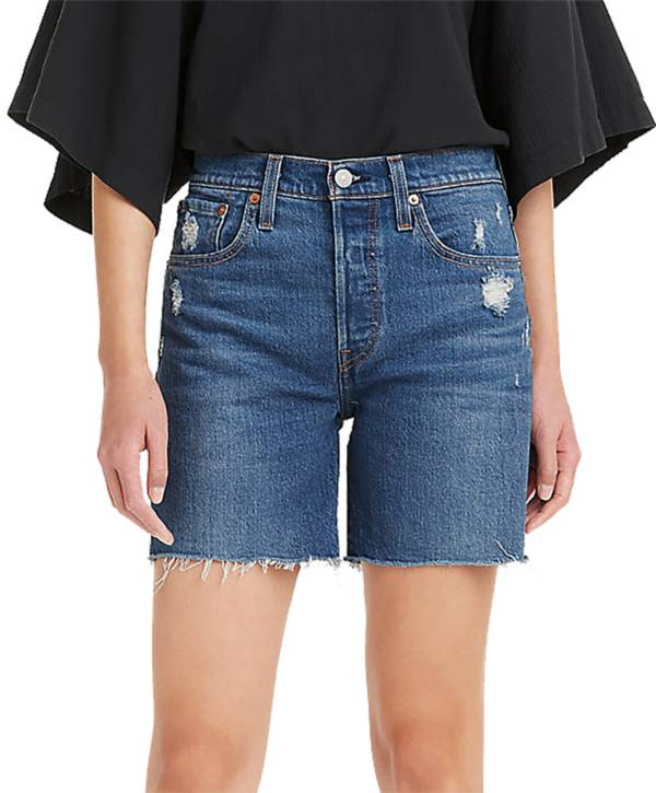 Levi's Women's 501 Original High-Rise Mid-Thigh Jeans Shorts product image