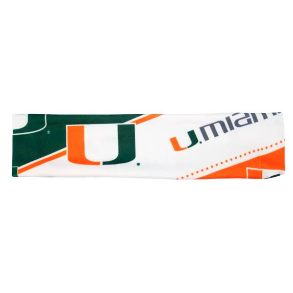 Little Earth Miami Hurricanes Stretch Headband product image