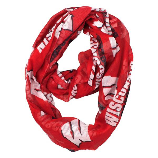 Little Earth Wisconsin Badgers Infinity Scarf product image