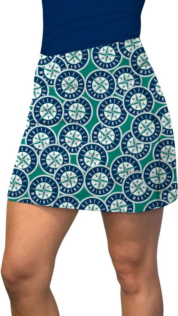Loudmouth Golf Women's Seattle Mariners Navy Tossed Logo Active Golf Skort product image