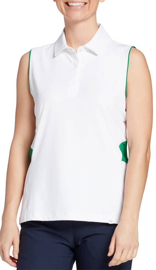 Lady Hagen Women's Green Sleeveless Golf Polo product image