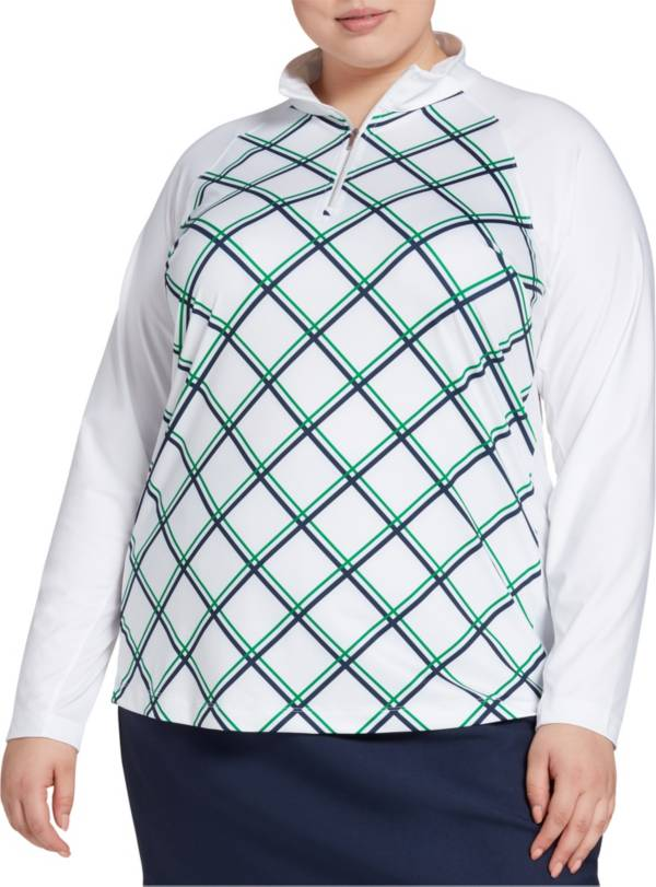 Lady Hagen Women's Print ¼-Zip Golf Pullover – Extended Sizes product image