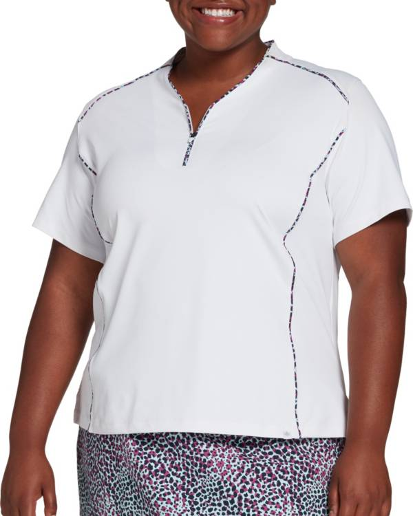 Lady Hagen Women's Sea Printed Piped Golf Polo – Extended Sizes product image