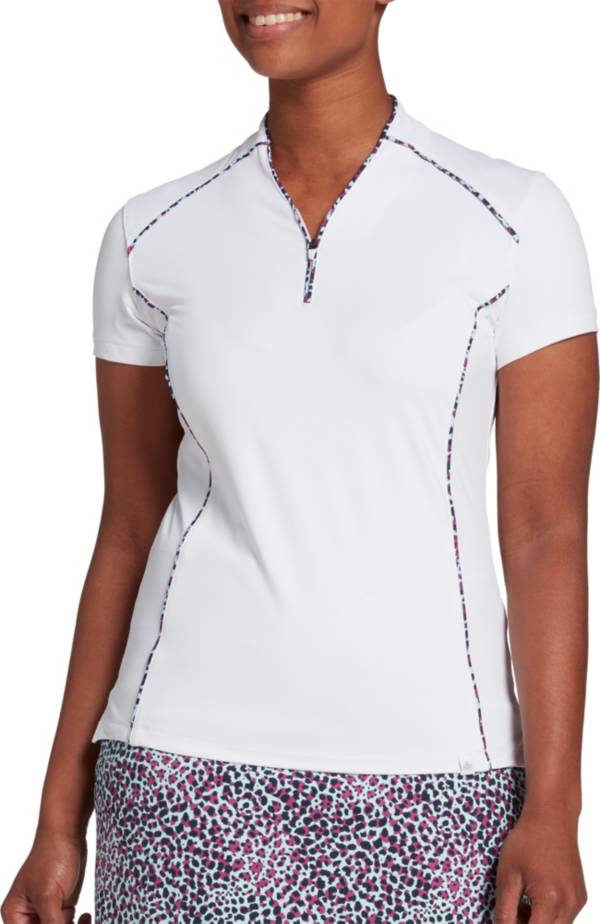 Lady Hagen Women's Sea Printed Piped Golf Polo product image