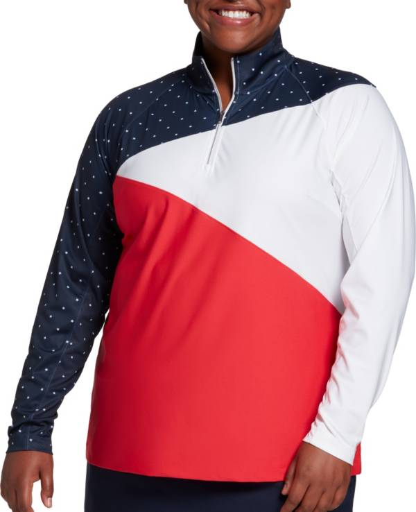 Lady Hagen Women's USA Spliced ¼ Zip Golf Pullover – Extended Sizes product image