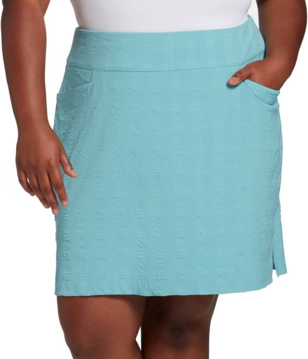 Lady Hagen Women's Seersucker Golf Skort – Extended Sizes product image