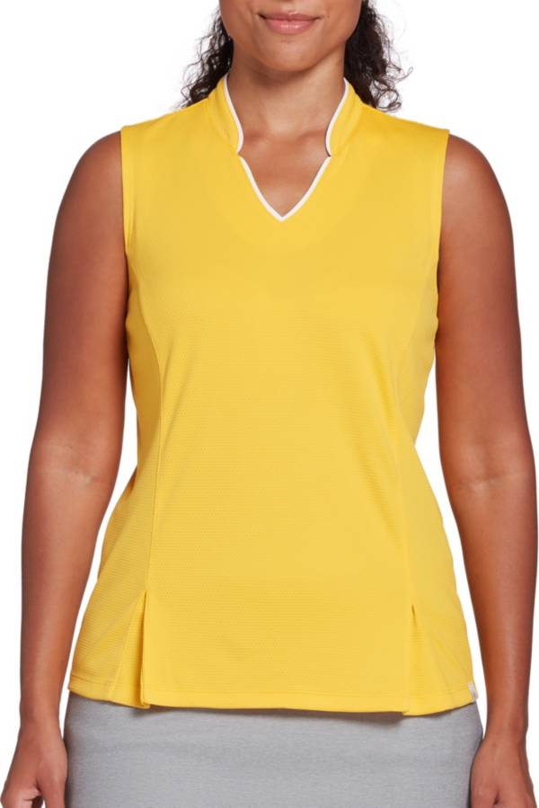 Lady Hagen Women's Toile Notch Texture Sleeveless Golf Polo product image