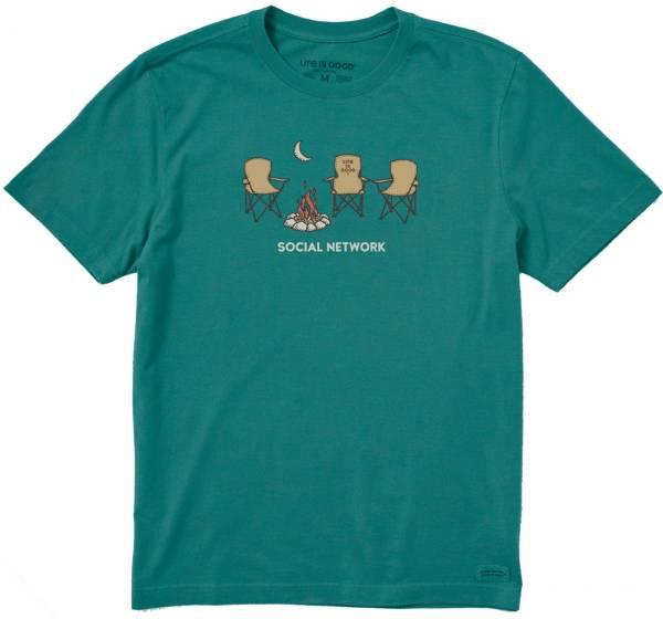 Life is Good Men's Social Network Camp Crusher T-Shirt product image