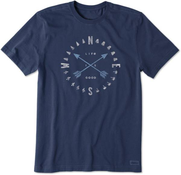 Life is Good Men's Compass Arrows Crusher T-Shirt product image