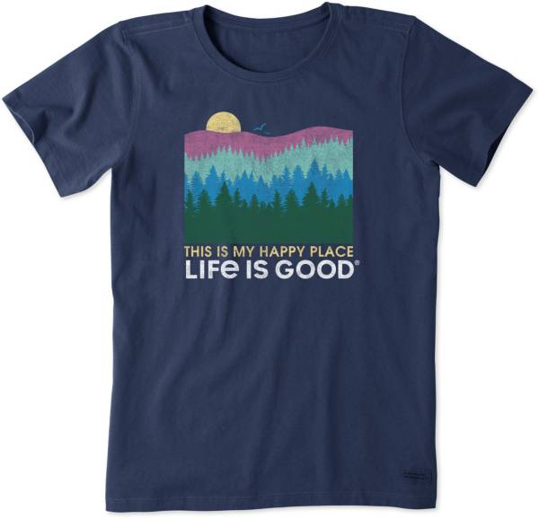 Life is Good Women's Happy Place Trees Crusher T-Shirt product image