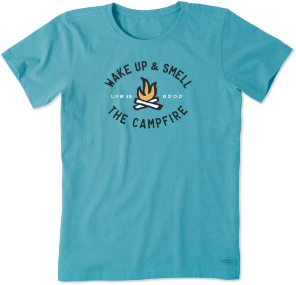 Life is Good Women's Smell The Campfire Crusher T-Shirt product image
