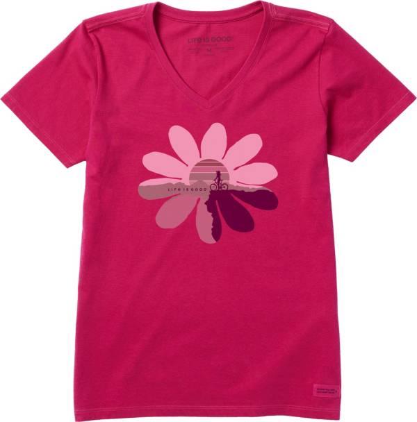 Life is Good Women's Sun Flower Ride Crusher T-Shirt product image