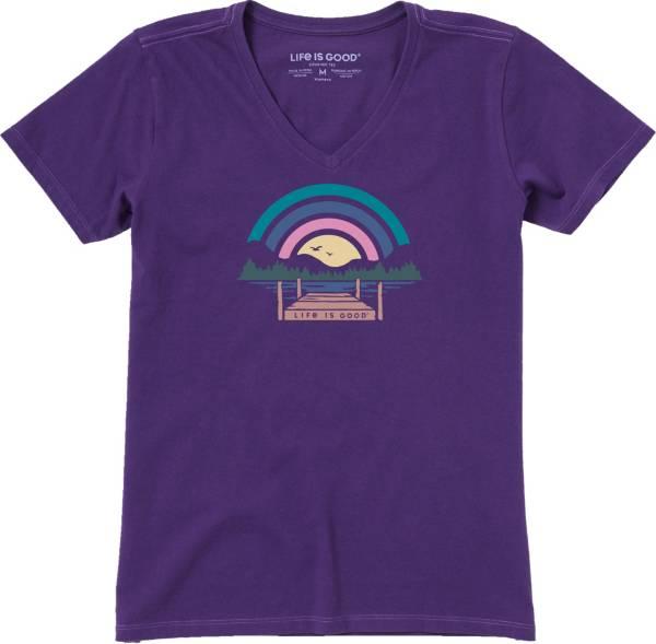 Life is Good Women's Sunset Dock Crusher T-Shirt product image