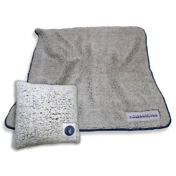 Logo Minnesota Timberwolves Frosty Blanket And Pillow Bundle product image