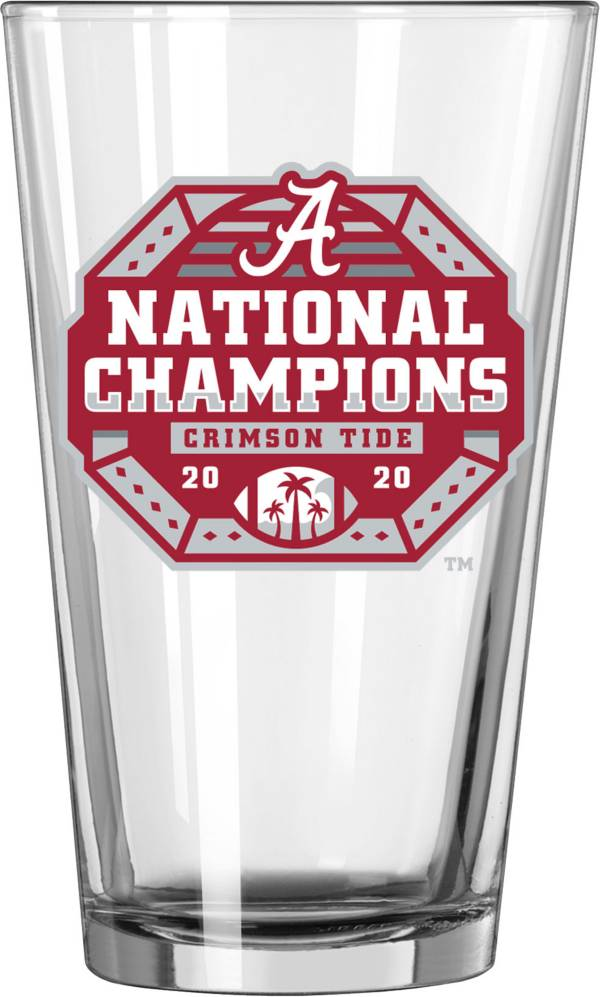 Logo 2020 National Champions Alabama Crimson Tide 16oz. Pint Glass product image