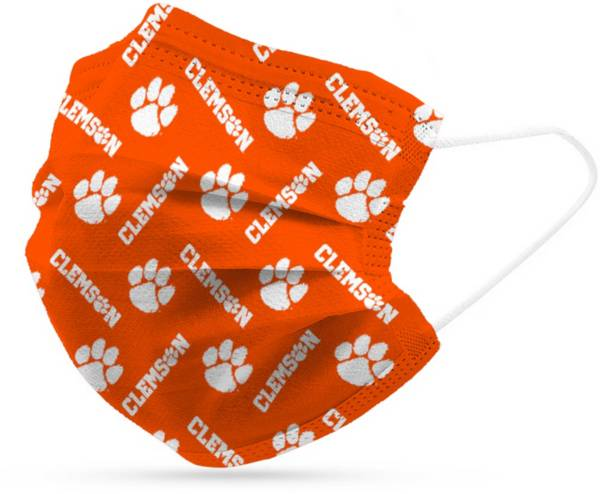 Adult Clemson Tigers 6-Pack Disposable Face Coverings product image