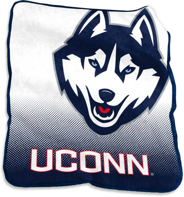 Logo UConn Huskies 50'' x 60'' Raschel Throw Blanket product image