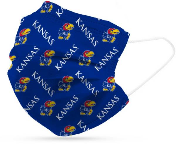 Adult Kansas Jayhawks 6-Pack Disposable Face Coverings product image