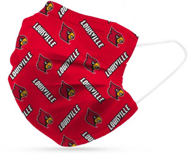 Adult Louisville Cardinals 6-Pack Disposable Face Coverings product image