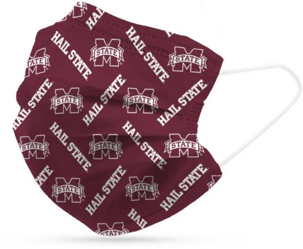 Adult Mississippi State Bulldogs 6-Pack Disposable Face Coverings product image