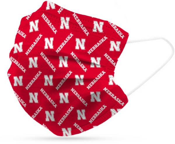 Adult Nebraska Cornhuskers 6-Pack Disposable Face Coverings product image