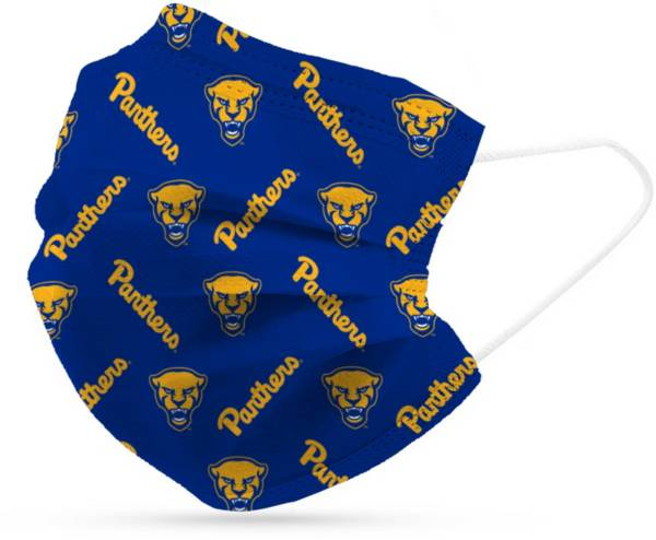 Adult Pitt Panthers 6-Pack Disposable Face Coverings product image