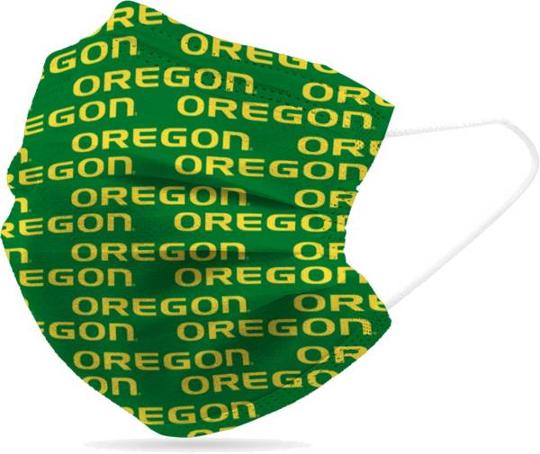 Adult Oregon Ducks 6-Pack Disposable Face Coverings product image