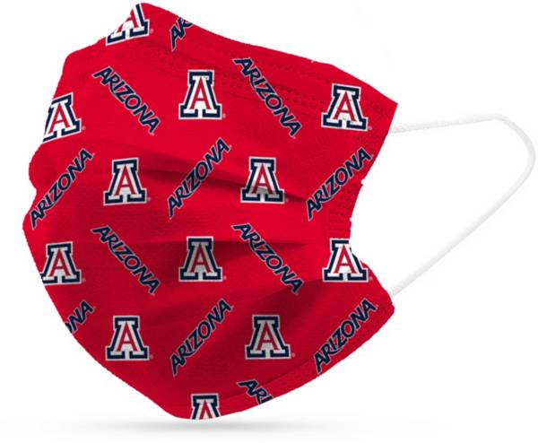Adult Arizona Wildcats 6-Pack Disposable Face Coverings product image