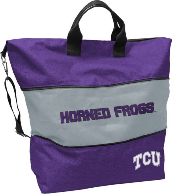 Logo TCU Horned Frogs Crosshatch Expandable Tote product image
