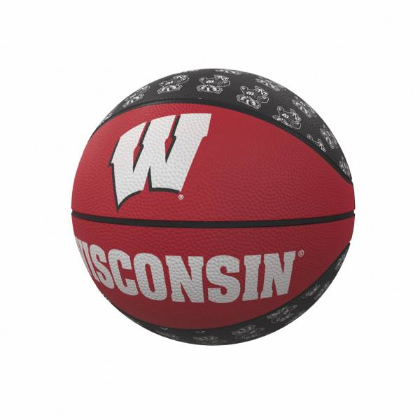 Wisconsin Badgers Logo Mini Rubber Basketball product image