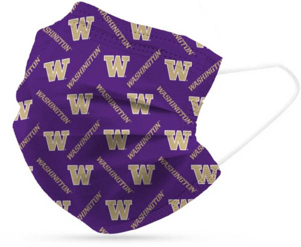 Adult Washington Huskies 6-Pack Disposable Face Coverings product image