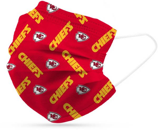 Adult Kansas City Chiefs 6-Pack Disposable Face Coverings product image