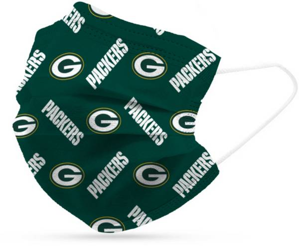 Adult Green Bay Packers 6-Pack Disposable Face Coverings product image