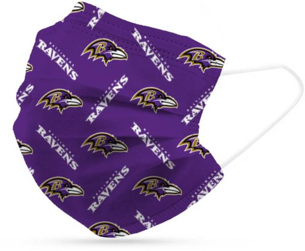 Adult Baltimore Ravens 6-Pack Disposable Face Coverings product image