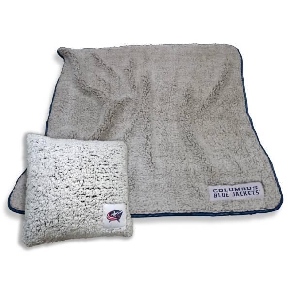 Logo Columbus Blue Jackets Frosty Blanket And Pillow Bundle product image